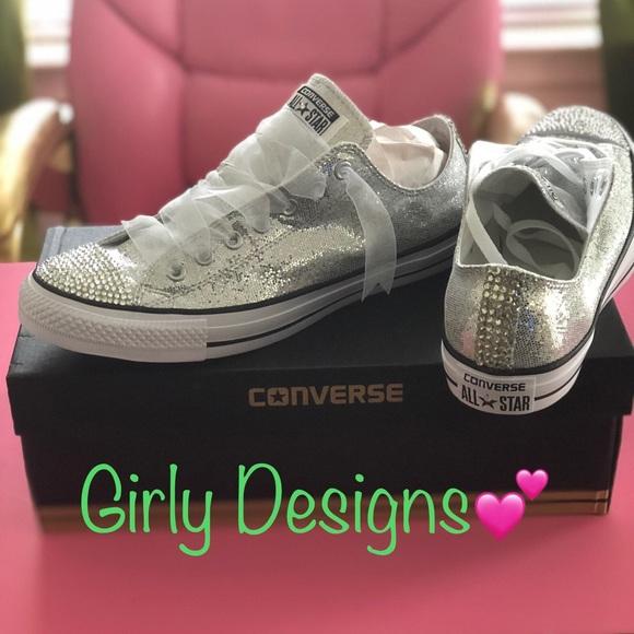 d8a4756776e9 Converse Shoes | Bling Custom Made Glitter Rhinestones S | Poshmark
